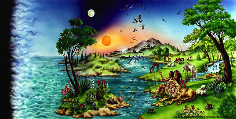 Шестой день творения мира картинки